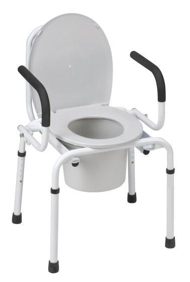 MABIS DMI Drop-Arm Steel Portable Commode Toilets