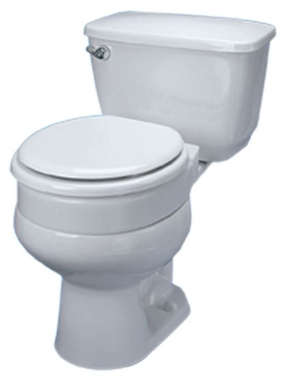 Hinged Elevated Toilet Seat - 3