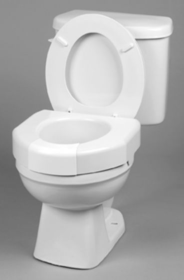 Maddak Basic Open Front Elevated Toilet Seat with Closed Front Option