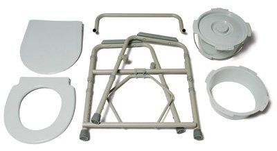 Folding Steel Commode, 4/Pack
