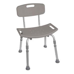 Drive Deluxe Aluminum Bath Seat With Back - Shower Bench & Seat