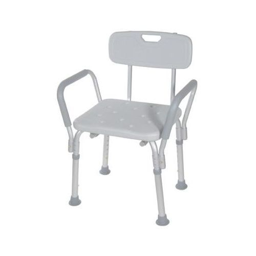 Bath Bench with Backrest and Removable Padded Arms - Shower Chair/Bench