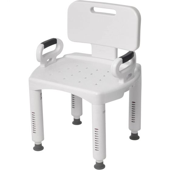 Premium Series Bath Bench with Back and Arms - Case of 4