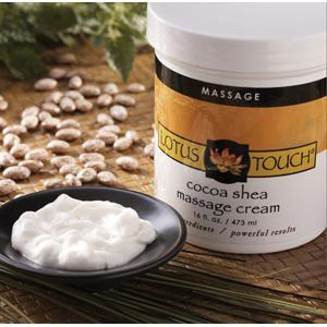 Lotus Touch Cocoa Shea Butter Massage Cream