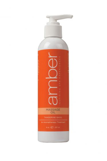 Amber Tangerine Basil Massage Oil