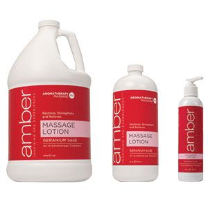 Amber Geranium Sage Massage Lotion