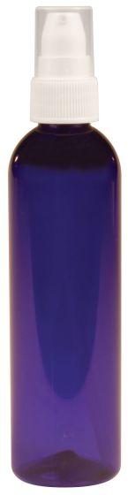 Cobalt Plastic Bottle With White Pump 4 oz