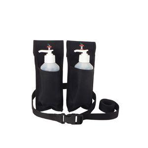 Double Massage Holster For Lotion Bottles Black