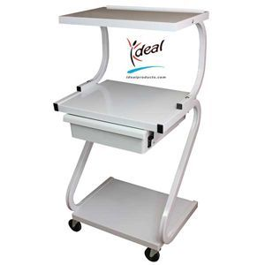 3 Shelf Trolley Plus Drawer Z Form With Electric