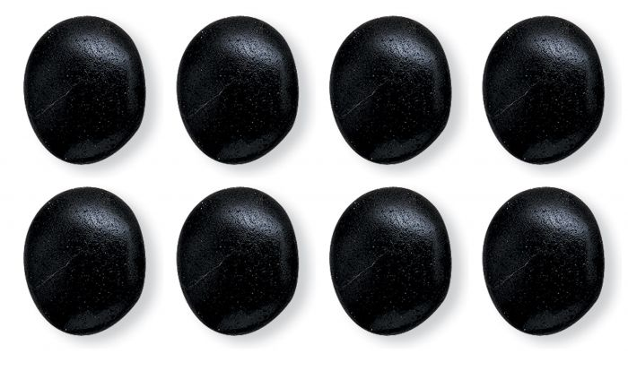 Hot Stones Massage Large, Set Of 8 Basalt Stones