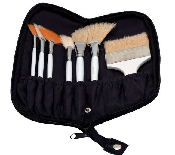 Synthetic Body Brush Set, 7Pc