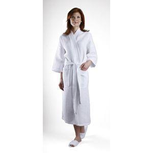 Waffle Weave Kimono White / 67% Cotton 33% Poly