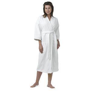 Luxury Hotel Velour Kimono Robe White