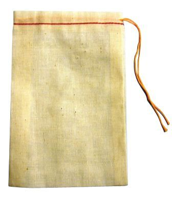 Muslin Cloth Plain Drawstring Bag 4X6