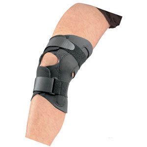 DermaDry Wrap Around Knee Support With Hinges