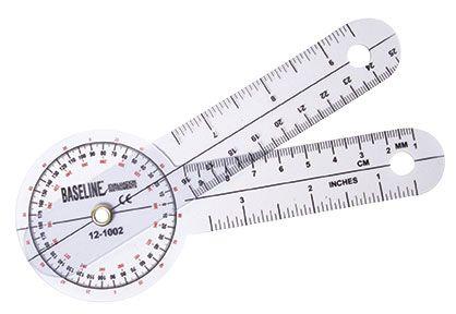 Baseline Plastic Goniometer 360 Degrees, 6