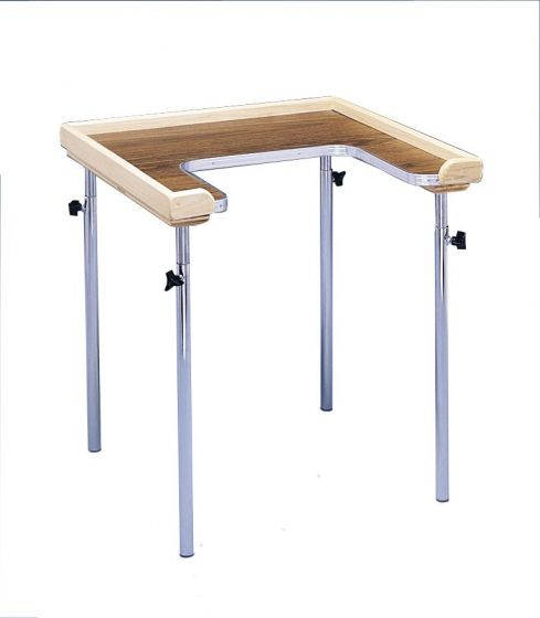 Adjustable Work Table W/ Cutout