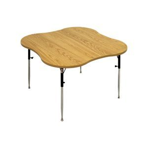 Hausmann 4 Cut-Out Table With Adjustable Legs