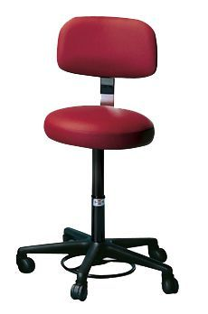 Hausmann Air Lift Stool With Backrest