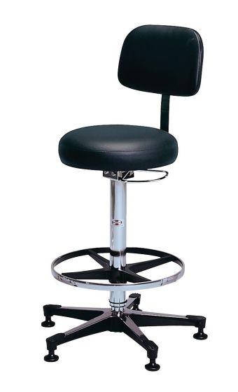 Hausmann Pneumatic Lab Stool With Backrest