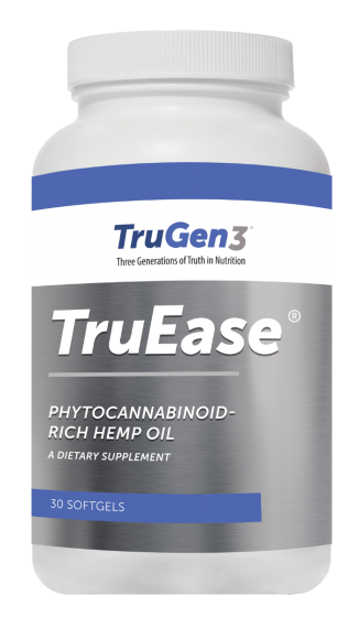 TruGen3® TruEase® Phytocannabinoid-Rich Hemp Oil - 25 mg CBD - 30 Soft Gels