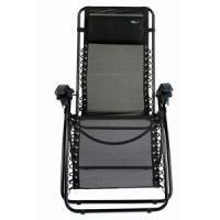 Reclining Reflexology Chair - Ergonomic Folding Recliner in Black