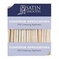 Satin Smooth Wooden Contour Applicators for Waxing Eyebrows - 200 pack