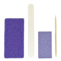 DL Professional 4-Piece Disposable Mini Pedicure Kit