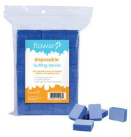 Flowery Disposable Buff Blocks Blue 180/Grit 100/Pk