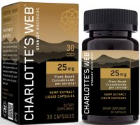 Charlotte's Web 25mg CBD Oil Liquid Capsules