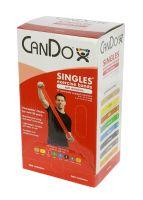 CanDo® Low Powder Pre-Cut Exercise Band 5' Singles - 30 Piece Dispenser