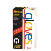 Product Club JetBlack® Disposable Vinyl Gloves - 90 ct. Box