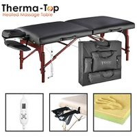 "Master® Massage Equipment 31"" Montclair™ Massage Table Package Black with Therma-Top®"