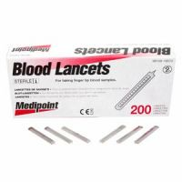 Stainless Steel Sterile Lancets 200Ct