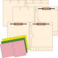 11 Pt Pocket Folders With 2 Fasteners, 50/Box