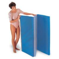 Folding Floor Mat 4' X 6' Blue/Gray