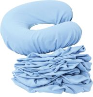 Face Rest Covers Set of 8 Light Blue