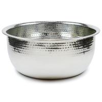 Pedicure Bowls by Noel Asmar - Hammered Stainless Steel